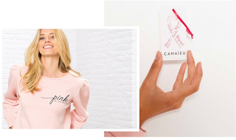 CAMAIEU Sweat Octobre rose 2017